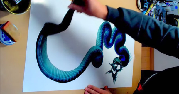 What This Artist Does With A Single Brushstroke Will Leave You Speechless